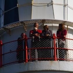 Begeisterte Blicke vom Leuchtturm