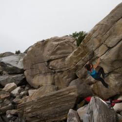 """Miriam Schulz in """"Verkehrte Welt"""" - fb7A+ (First Ascent)"""