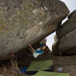 """First Ascent: Katinka Mühlschlegel in """"Schreipause"""", fb6C+"""