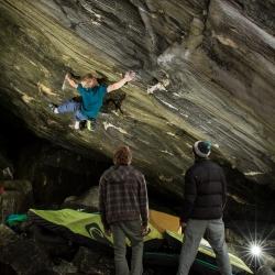 """Jochen Perschmann in """"Green Scream"""", fb7C, Third Ascent"""