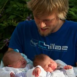 Axel mit Finja und Nichte Paula