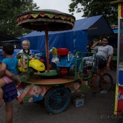 Fußbetriebenes Karusell