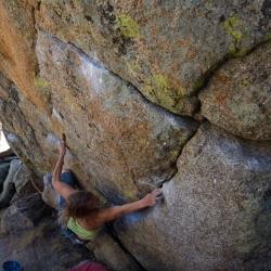 """Chalk on Rock"", V8 (fb7b+)"