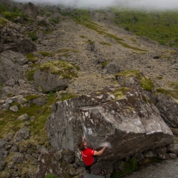 """Paul Notdurfth in """"Cheater an die Wand"""" - fb7B (Third Ascent)"""