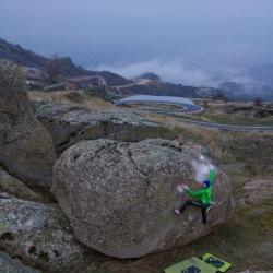 """First Ascent: Jochen Perschmann in """"Wiedergeburt 1"""", fb7A"""
