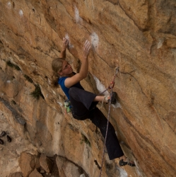 """Vera Warmbrunn in """"Smoked Mussels"""", 27 (7b+)"""